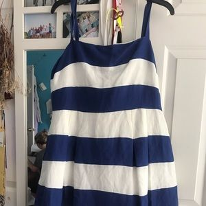 Loft blue and white stripped summer dress